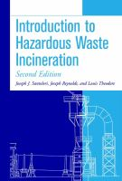 Cover image for Introduction to hazardous waste incineration