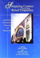 Cover image for Shopping centers and other retail properties : investment, development, financing, and management