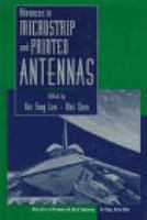 Cover image for Advances in microstrip and printed antennas