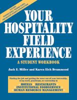 Cover image for Your hospitality field experience : a student workbook
