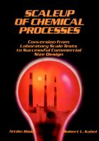 Cover image for Scaleup of chemical processes : conversion from laboratory scale tests to successful commercial size design