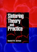 Cover image for Sintering theory and practice