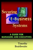 Cover image for Securing E-business systems : a guide for managers and executives