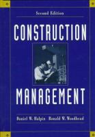 Cover image for Construction management