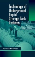 Cover image for Technology of underground liquid storage tank systems