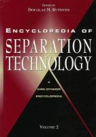 Cover image for Encyclopedia of separation technology