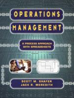 Cover image for Operations management : a process approach with spreadsheets