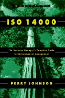 Cover image for ISO 14000 : the business manager's complete guide to environmental management