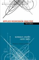 Cover image for Applied regression analysis
