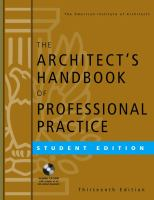 Cover image for The architect's handbook of professional practice