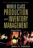 Cover image for World class production and inventory management