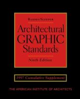 Cover image for Ramsey/Sleeper architectural graphic standards : 1997 cumulative supplement