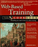 Cover image for Web-based training cookbook