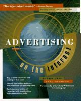 Cover image for Advertising on the internet