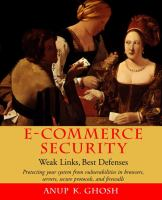 Cover image for E-commerce security : weak links, best defenses