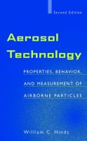 Cover image for Aerosol technology : properties, behavior and measurement of airborne particles