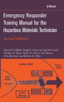Cover image for Emergency responder training manual for the hazardous materials technician