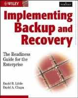 Cover image for Implementing backup and recovery : the readiness guide for the enterprise