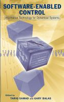 Cover image for Software-enabled control  : information technology for dynamical systems