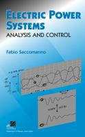 Cover image for Electric power systems : analysis and control