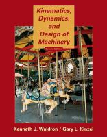 Cover image for Kinematics, dynamics, and design of machinery