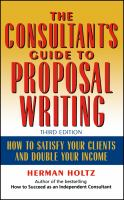 Cover image for The consultant's guide to proposal writing : how to satisfy your clients and double your income