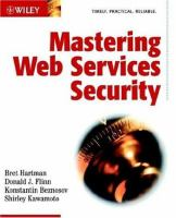 Cover image for Mastering Web services security