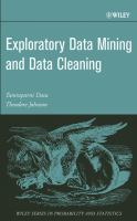 Cover image for Exploratory data mining and data cleaning
