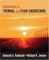 Cover image for Introduction to thermal and fluid engineering