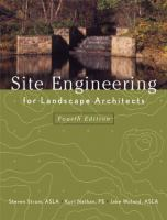 Cover image for Site engineering for landscape architects
