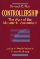 Cover image for Controllership : the work of the managerial accountant
