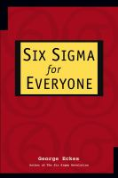 Cover image for Six sigma for everyone