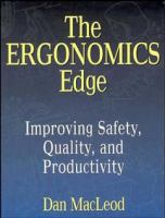 Cover image for The ergonomics edge : improving safety, quality, and productivity