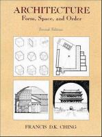 Cover image for Architecture : form, space and order