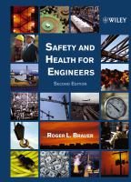 Cover image for Safety and health for engineers