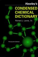 Cover image for Hawley's condensed chemical dictionary