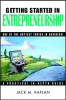 Cover image for Getting started in entrepreneurship : one of the hottest topics in business