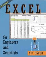 Cover image for Excel for engineers and scientists