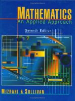 Cover image for Mathematics : an applied approach