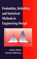 Cover image for Probability, reliability, and statistical methods in engineering design