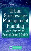 Cover image for Urban stormwater management planning with analytical probabilistic models