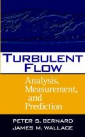 Cover image for Turbulent flow : analysis, measurement and prediction