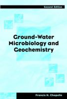 Cover image for Ground-water microbiology and geochemistry