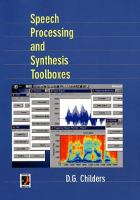 Cover image for Speech processing and synthesis toolboxes