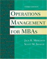 Cover image for Operations management for MBAs