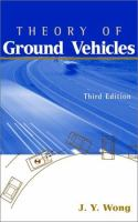 Cover image for Theory of ground vehicles