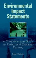 Cover image for Environmental impact statements : a comprehensive guide to project and strategic planning