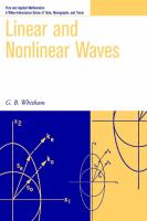 Cover image for Linear and nonlinear waves