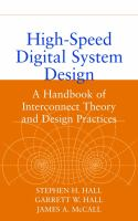 Cover image for High-speed digital system design : a handbook of interconnect theory and design practices