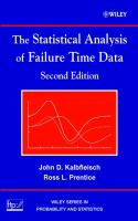 Cover image for The statistical analysis of failure time data